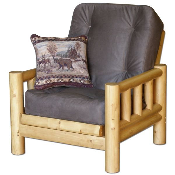 Tahoe Log Futon Chair Set with Cover