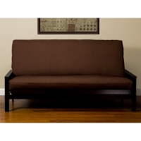 Chocolate Linen Futon Cover