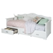 Tiara Twin Daybed - 3 Drawers, Pure White - SS-10003