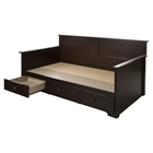 Summer Breeze Twin Daybed - 3 Drawers, Chocolate