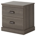 Gloria Nightstand - 2 Drawers, Gray Maple - SS-10119