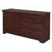 Versa 6 Drawers Double Dresser - Royal Cherry - SS-10123