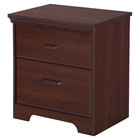 Versa 2 Drawers Nightstand - Royal Cherry