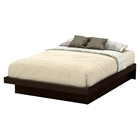 Basic Queen Platform Bed - Moldings, Chocolate