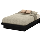 Basic Full Platform Bed - Moldings, Pure Black