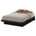Basic Queen Platform Bed - Moldings, Pure Black - SS-10166