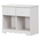 Summer Breeze 2 Drawers Double Nightstand - White Wash
