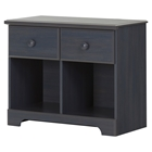 Summer Breeze 2 Drawers Double Nightstand - Blueberry