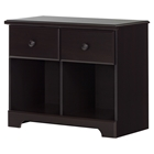 Summer Breeze 2 Drawers Double Nightstand - Chocolate