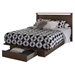 Primo Full/Queen Platform Bed - Drawer, Brown Walnut - SS-10336