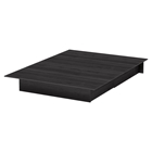 Step One Full/Queen Platform Bed - 2 Drawers, Gray Oak