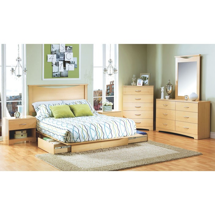 Step One Storage Bed with Headboard - SS-3013217-3113270