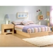Step One Low Profile Platform Bed in Natural Maple - SS-30132