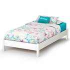Libra Contemporary Twin White Platform Bed