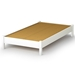Libra Contemporary Twin White Platform Bed - SS-3050205