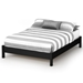 Step One Contemporary Platform Bed in Black - SS-3070