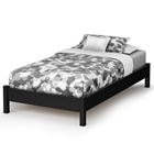 Libra Twin Platform Bed in Black