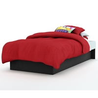 Libra Low Profile Twin Platform Bed in Black