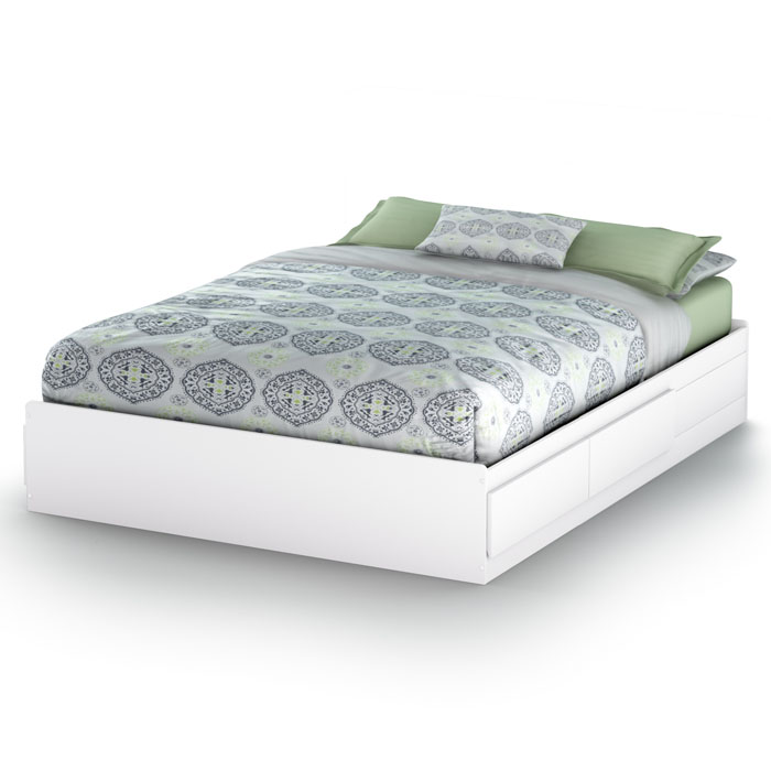 Vito Queen Mate's Bed in White - SS-3150210