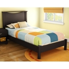 Libra Chocolate Twin Bed with Headboard