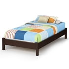 Libra Chocolate Platform Bed