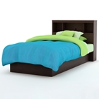 Libra Chocolate Twin Bookcase Bed