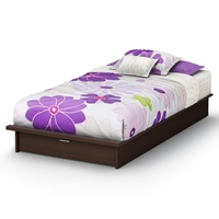 Libra Chocolate Platform Bed with Drawer