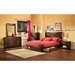 Step One Full/Queen Platform Bed - 2 Drawers, Chocolate - SS-3159229