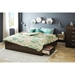 Step One King Platform Bed - 6 Drawers, Chocolate - SS-3159249