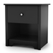 Vito Single Drawer Nightstand in Black - SS-3170062