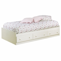 Summer Breeze Whitewash Twin Mates Bed