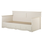 Summer Breeze Twin Daybed - 3 Drawers, White Wash