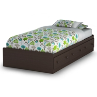 Summer Breeze Chocolate Twin Mates Bed