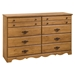 Prairie Country Style Dresser with 8 Drawers - SS-3232011