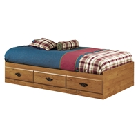 Prairie Twin Mates Bed in Country Pine