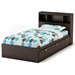 Cacao Twin Size Bookcase Bed in Chocolate - SS-3259080-3259098