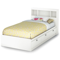 Sparkling Twin Size Mate%27s Bookcase Bed