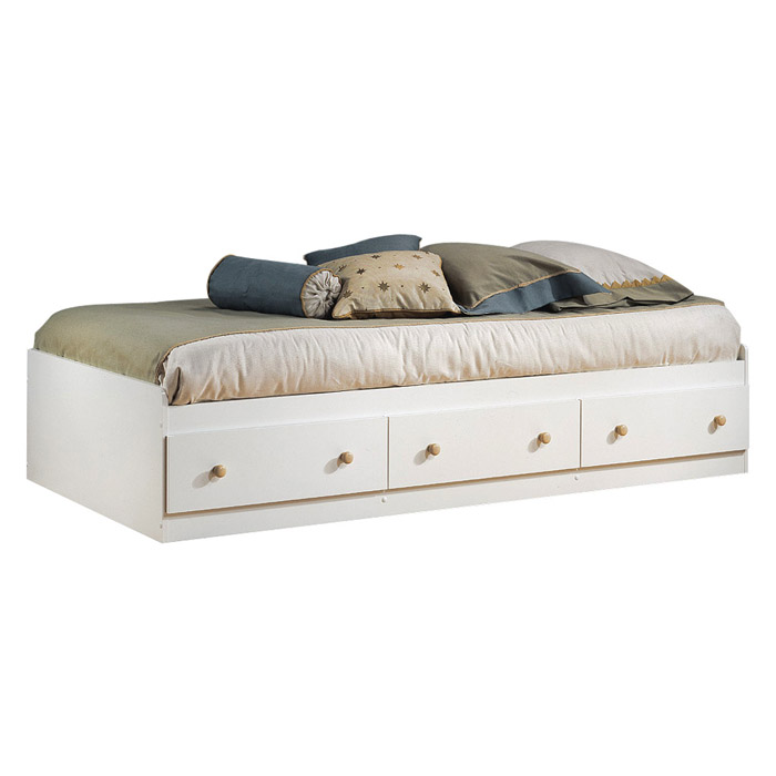Summertime White Twin Mate's Bed - SS-3263080