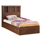 Jumper Twin Size Bookcase Bed in Classic Cherry