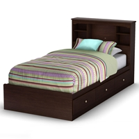 Willow Twin Mates Bookcase Bed in Havana Brown
