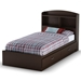 Logik Chocolate Twin Bookcase Bed - SS-3359213-3359098