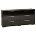 Mikka 6 Drawers Double Dresser - Black Oak - SS-3541010