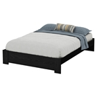 Mikka Queen Platform Bed - Black Oak