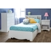 Crystal White Twin Mate's Bed with Bookcase Headboard - SS-3550080-3550098