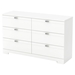 Reevo 6 Drawers Double Dresser - Pure White - SS-3840010
