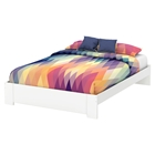 Reevo Queen Platform Bed - Pure White