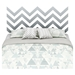 Step One Queen Storage Platform Bed - Gray Chevron Decal, Pure Black - SS-8050093K