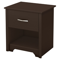 Fusion Nightstand - 1 Drawer, Chocolate