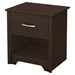 Fusion Nightstand - 1 Drawer, Chocolate - SS-9006062