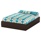 Fusion Queen Mates Bed - 2 Drawers, Chocolate
